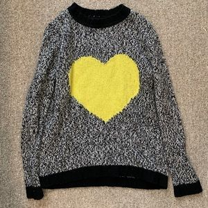 Gorgeous designer heart sweater